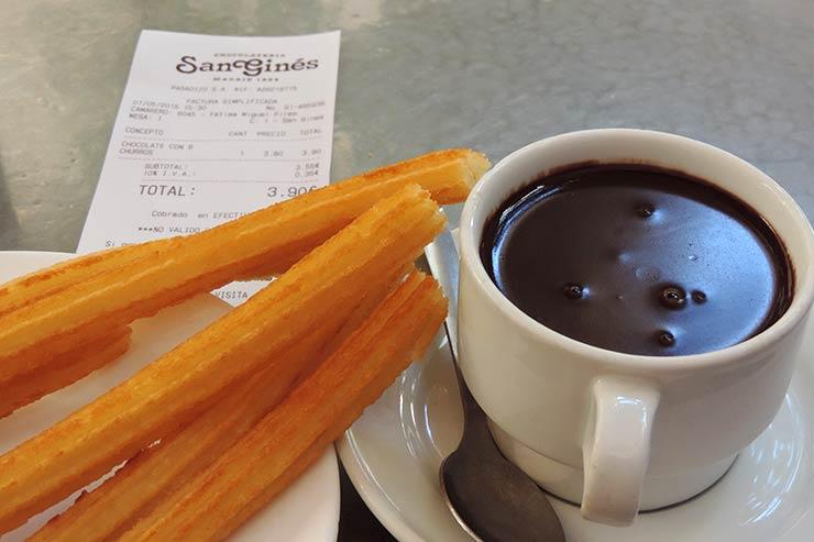 Onde comer o famoso churros de Madrid: Chocolateria San Ginés (Foto: Esse Mundo É Nosso)