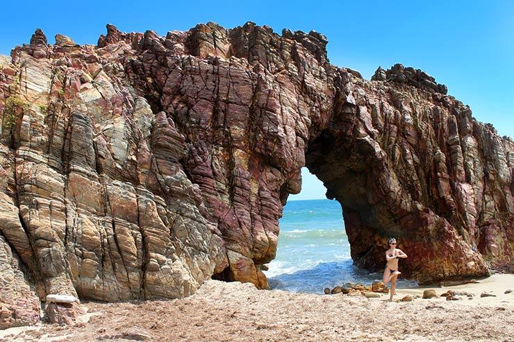 Pedra furada em Jericoacoara (Foto: Esse Mundo É Nosso)
