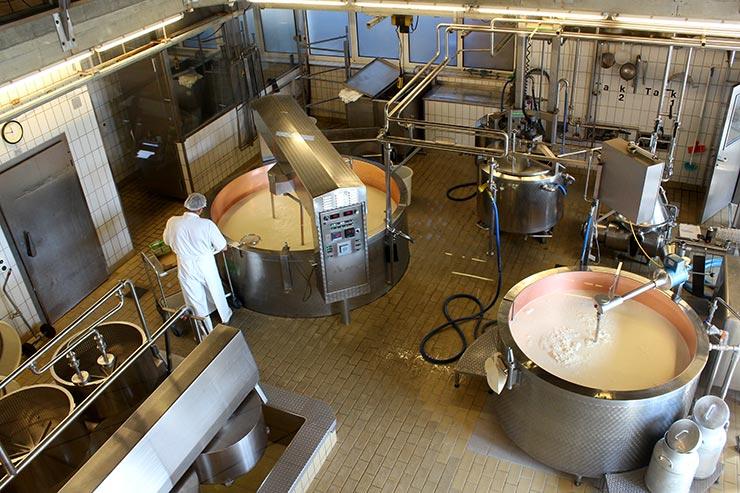 Visita a uma fábrica de queijo Emmental na Suíça (Foto: Esse Mundo É Nosso)