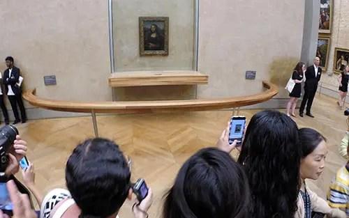 Mona Lisa no Museu do Louvre (Foto: Esse Mundo é Nosso)