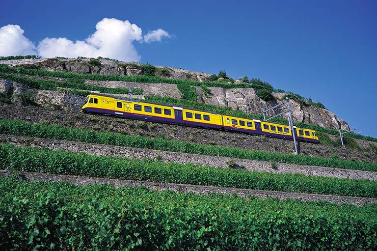 Train des Vignes - Região de Lavaux, Suíça (Foto: Swiss Image)