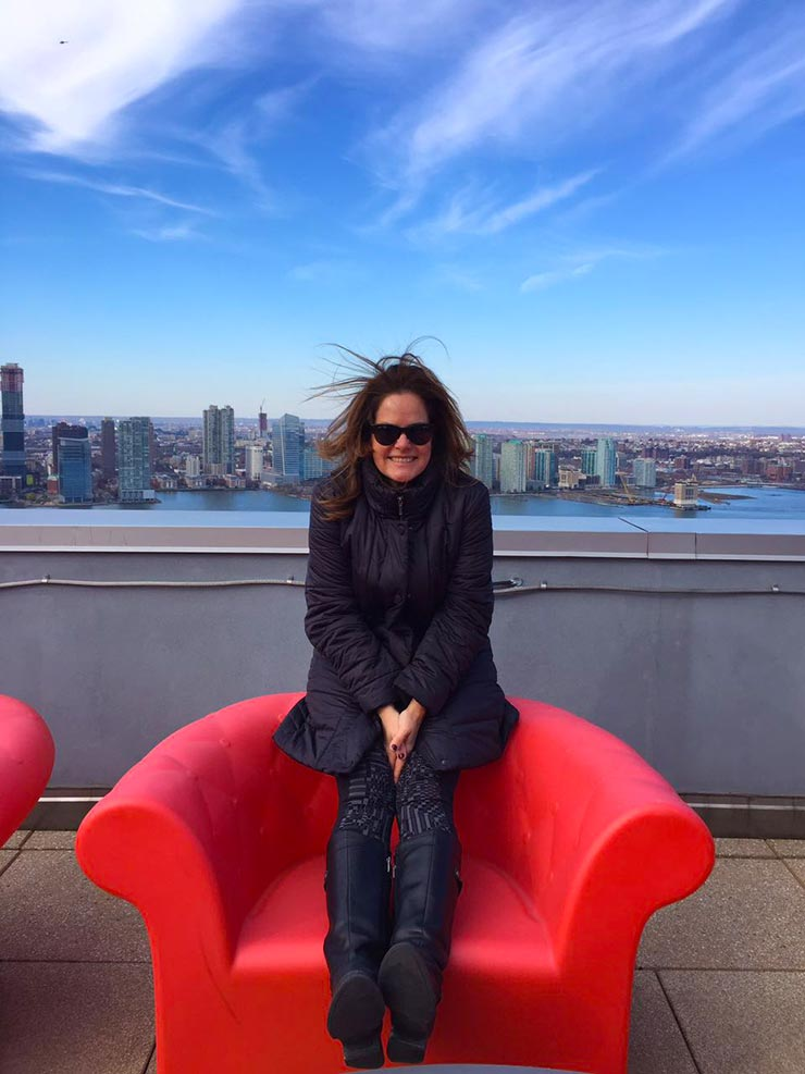 Renata Ceribelli em Nova York (Foto: Renata Ceribelli)