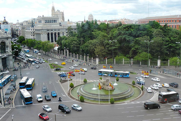 O que fazer em Madrid: Plaza de Cibeles (Foto: Esse Mundo É Nosso)