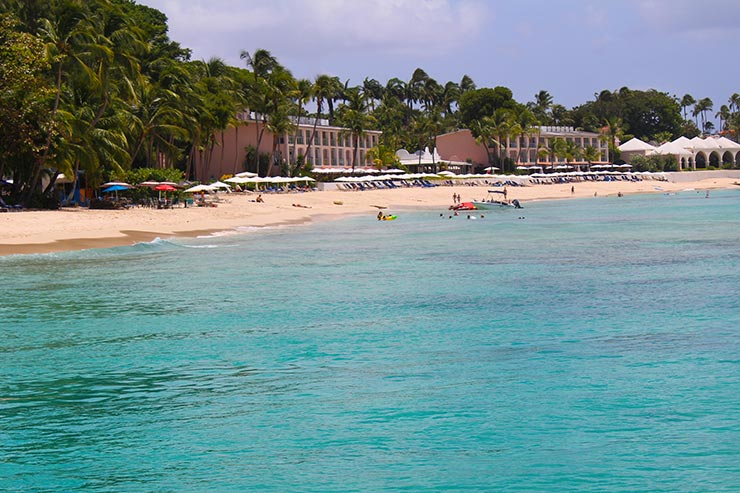 Melhores praias de Barbados: Sandy Lane Beach (Foto: Esse Mundo É Nosso)