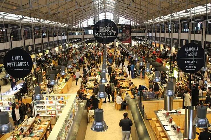Onde comer em Lisboa: Mercado da Ribeira TimeOut Market Lisboa (Foto: Esse Mundo É Nosso)