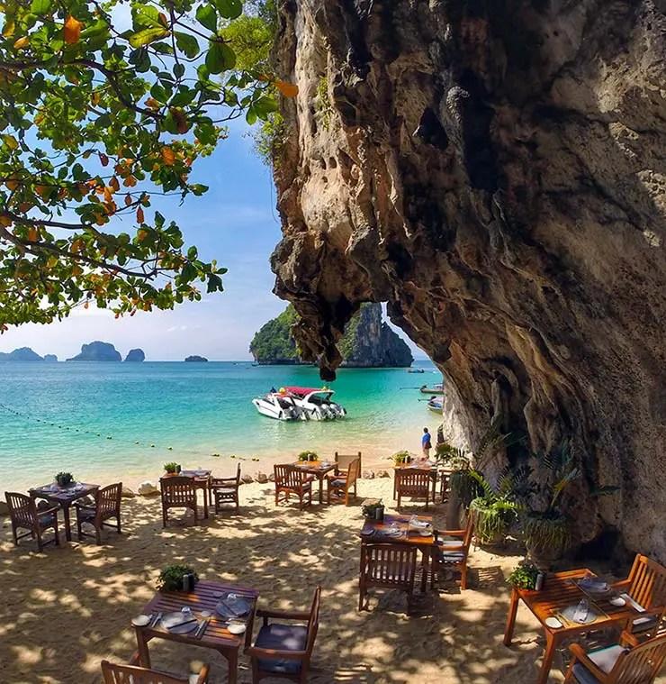 Onde comer em Railay: The Grotto (Foto: Esse Mundo É Nosso)