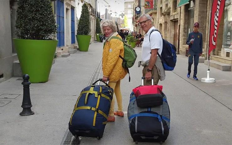 Casal de aposentados Debbie e Michael Campbell viaja o mundo (Foto: Arquivo Pessoal)