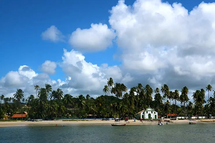 Igrejinha da Praia dos Carneiros - Capela de São Benedito (Foto: Esse Mundo É Nosso)