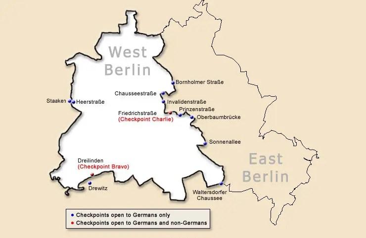 Mapa do Muro de Berlim [Imagem: ChrisO (CC BY-SA 3.0)]