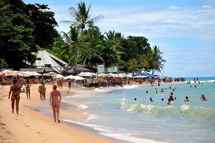 Cidades de praia na Bahia - Arraial d'Ajuda (Foto: Esse Mundo é Nosso)