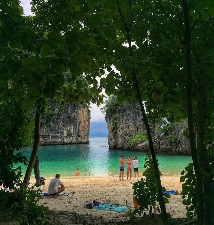 O que fazer em Railay Beach, Tailândia - Hong Island (Foto: Esse Mundo É Nosso)