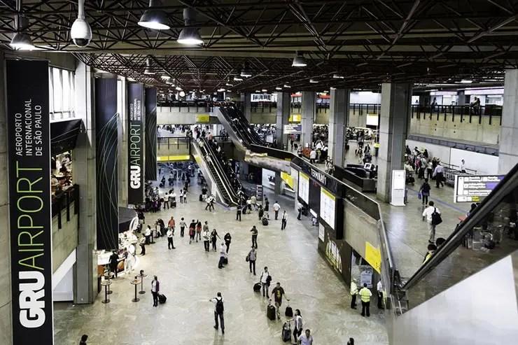 Trem entre SP e o aeroporto de Guarulhos (Foto via Shutterstock)