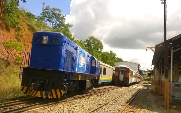 Trem turístico vai ligar MG ao RJ (Foto: ONG Amigos do Trem/Divulgação)