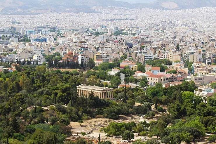 O que fazer em Atenas, Grécia - Ágora de Atenas (Foto: Esse Mundo É Nosso)