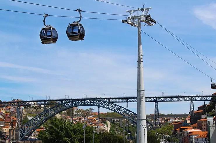 Teleférico em Vila Nova de Gaia, Portugal (Foto: Esse Mundo É Nosso)