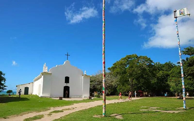 Quantos dias em Trancoso: Igreja de São João Batista localizada no Quadrado (Foto: Esse Mundo é Nosso)