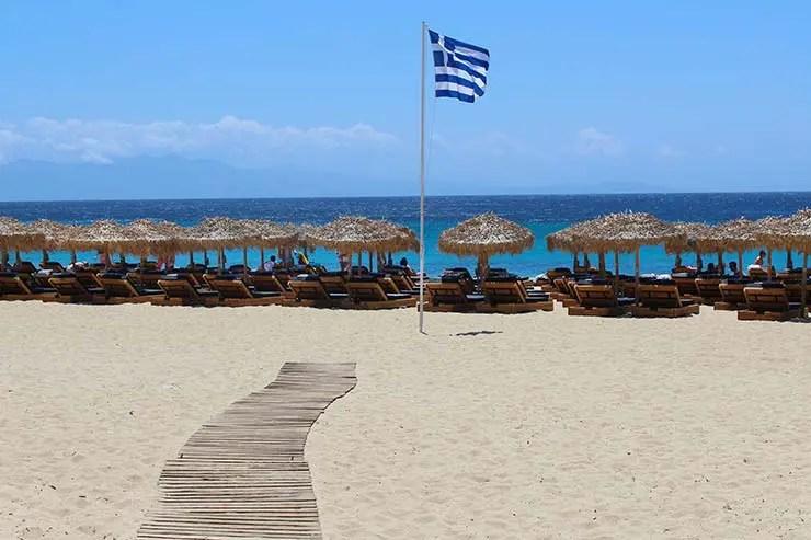 As melhores praias de Mykonos - Agrari (Foto: Esse Mundo É Nosso)