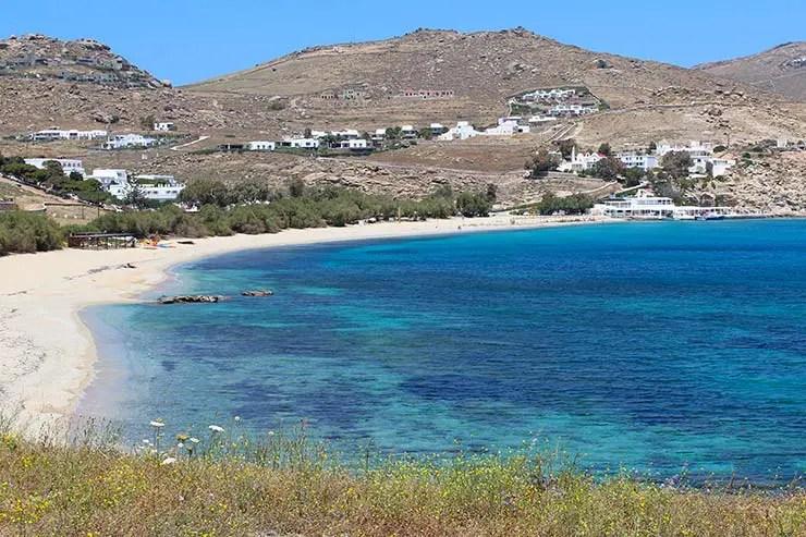 As melhores praias de Mykonos - Kalafatis (Foto: Esse Mundo É Nosso)