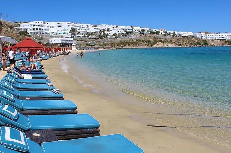 As melhores praias de Mykonos - Psarou (Foto: Esse Mundo É Nosso)