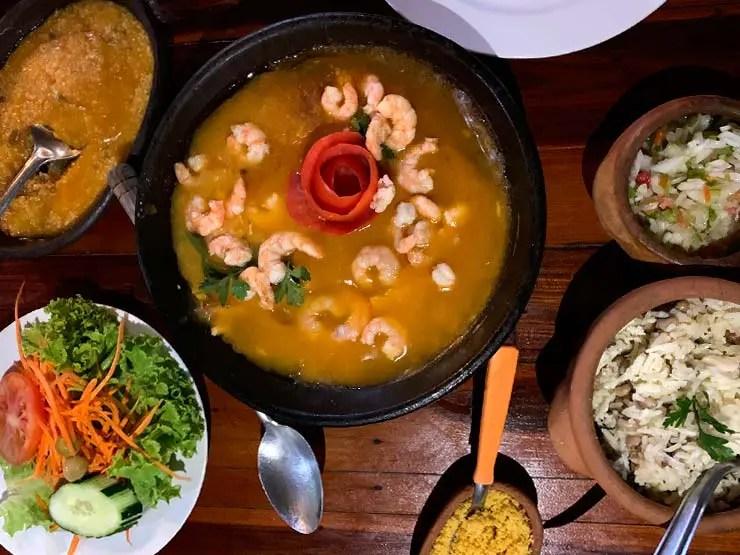 Moqueca de camarão do restaurante Dona Amélia (Foto: Esse Mundo é Nosso)