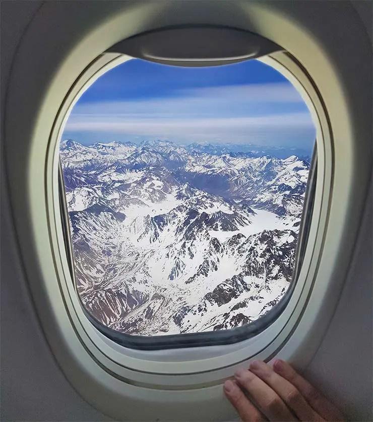 Assento numa viagem pro Chile pra ver a Cordilheira do avião (Foto: Esse Mundo É Nosso)