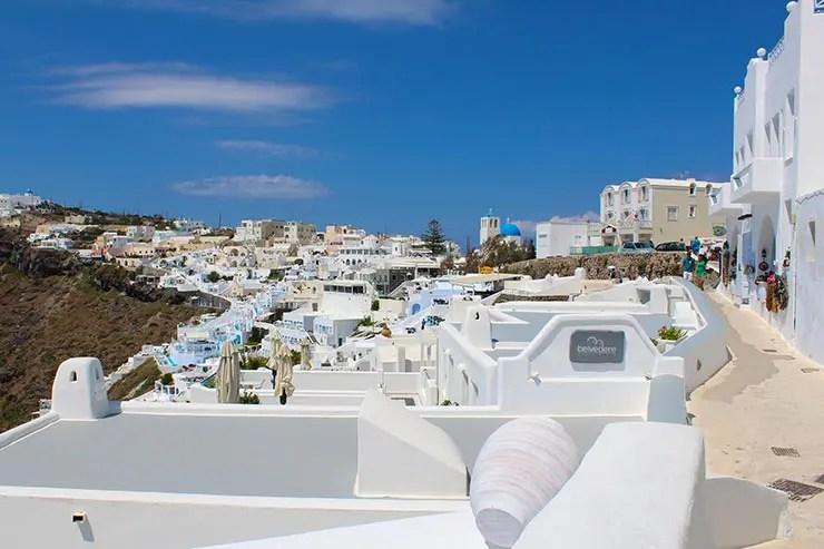 O que fazer em Santorini - Encosta da caldeira (Foto: Esse Mundo É Nosso)