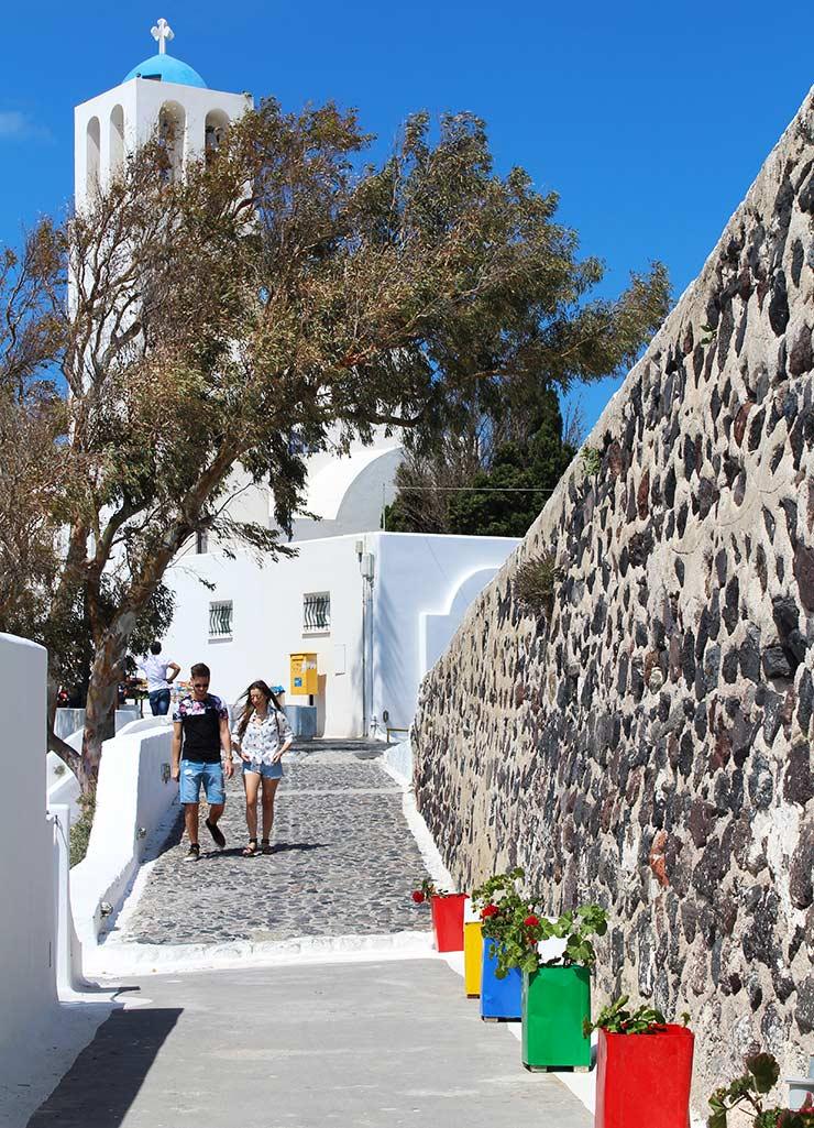 Ruelas de Santorini (Foto: Esse Mundo É Nosso)