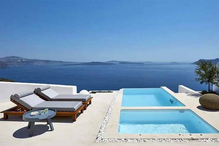 Onde ficar em Santorini - Oia - Amaya Selection of Villas (Divulgação/Booking)