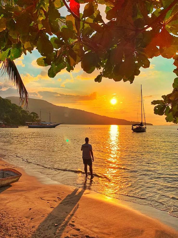 Pôr do Sol em Maguariquessaba - Passeios em Ilha Grande (Foto: Esse Mundo é Nosso)