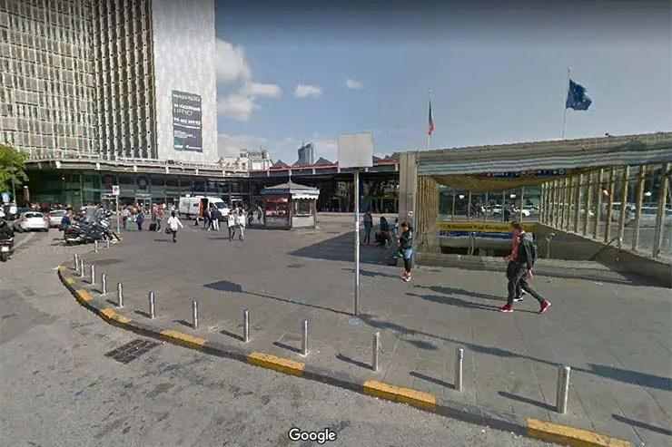 Onde ficar em Nápoles: Estação Central e Garibaldi (Foto: Google)