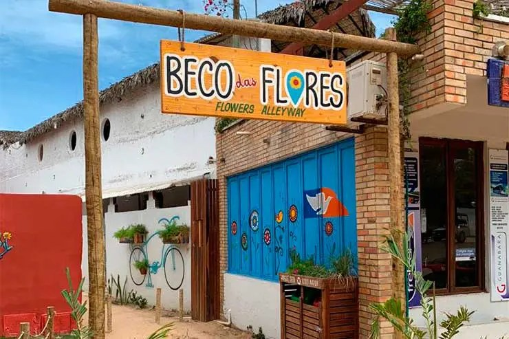 O que fazer em Jericoacoara - Beco das Flores (Foto: Esse Mundo é Nosso)