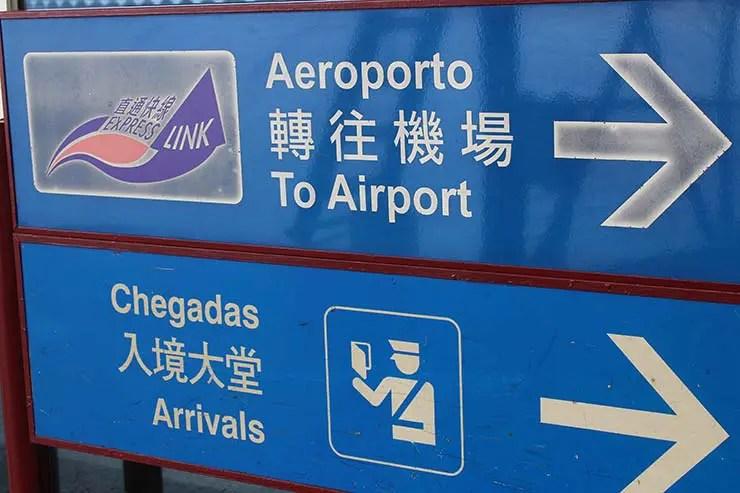 Placas em português em Macau (Foto: Esse Mundo É Nosso)