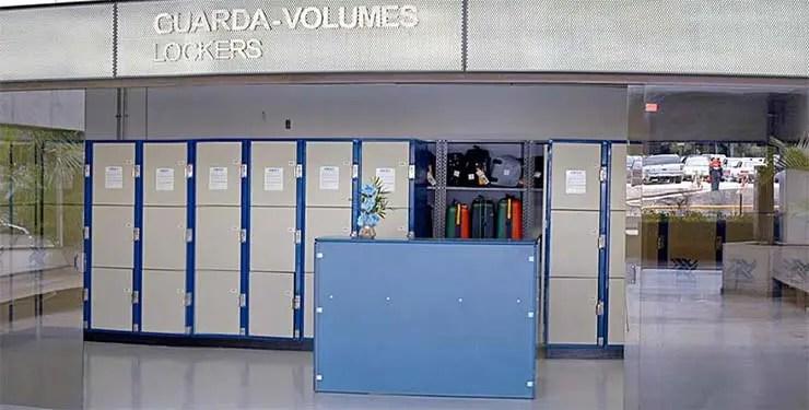 Guarda volumes em Guarulhos e Congonhas (Foto: Divulgação/Malex)