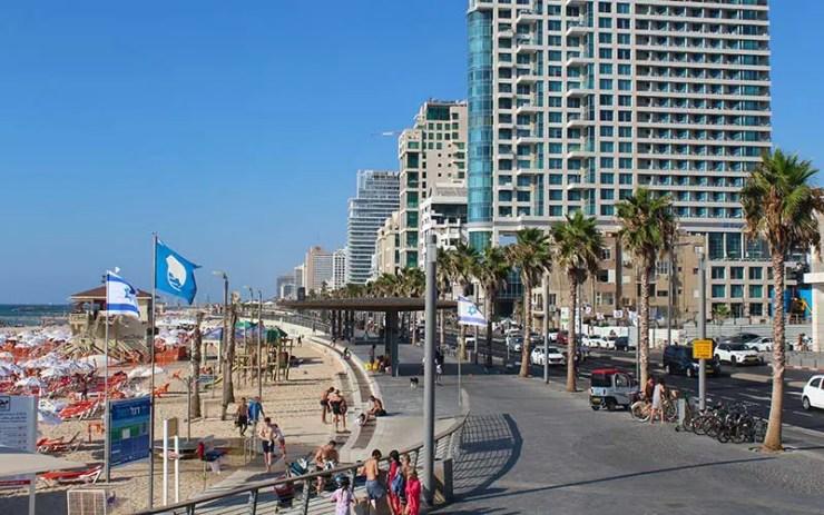 Orla de Tel Aviv, Israel (Foto: Esse Mundo É Nosso)