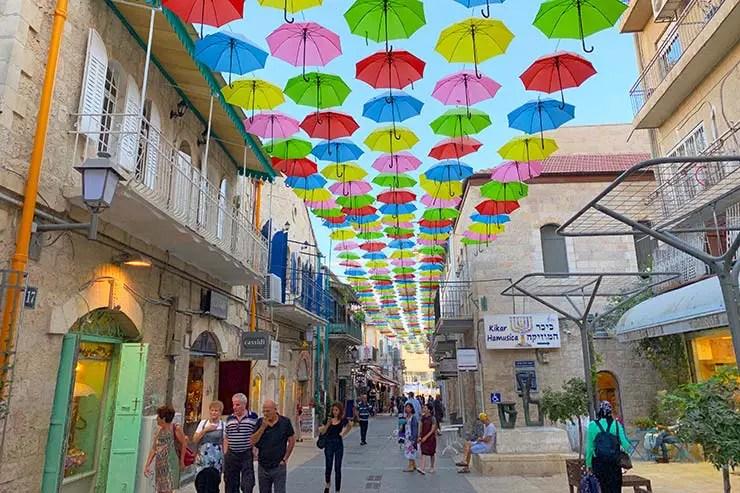 Região da Jaffa Street em Jerusalém (Foto: Esse Mundo É Nosso)