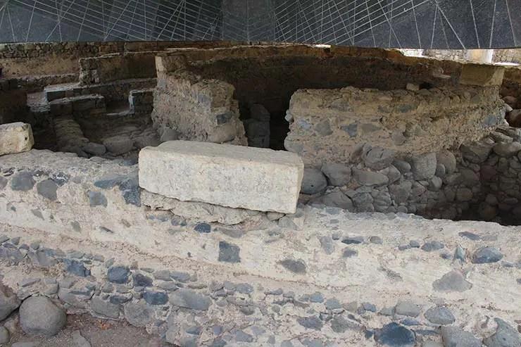 Local onde estaria a casa de Pedro em Cafarnaum (Foto: Esse Mundo é Nosso)