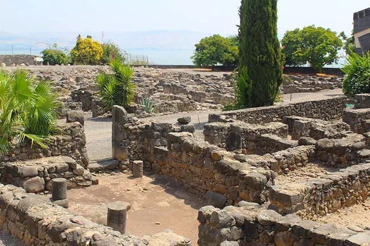 Ruínas de Cafarnaum (Foto: Esse Mundo é Nosso)