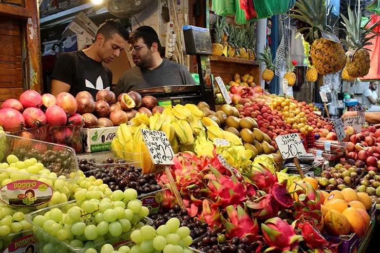 Frutas no Mahane Yehuda Market (Foto: Esse Mundo É Nosso)