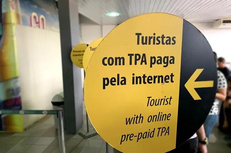 Fila exclusiva no aeroporto pra quem fez o pagamento online