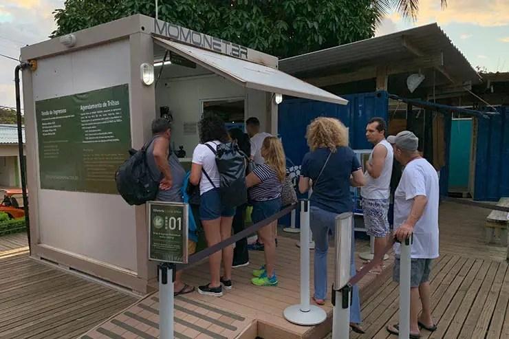 Guichê para pagamento da taxa no Centro de Visitantes do Tamar (Foto: Esse Mundo É Nosso)
