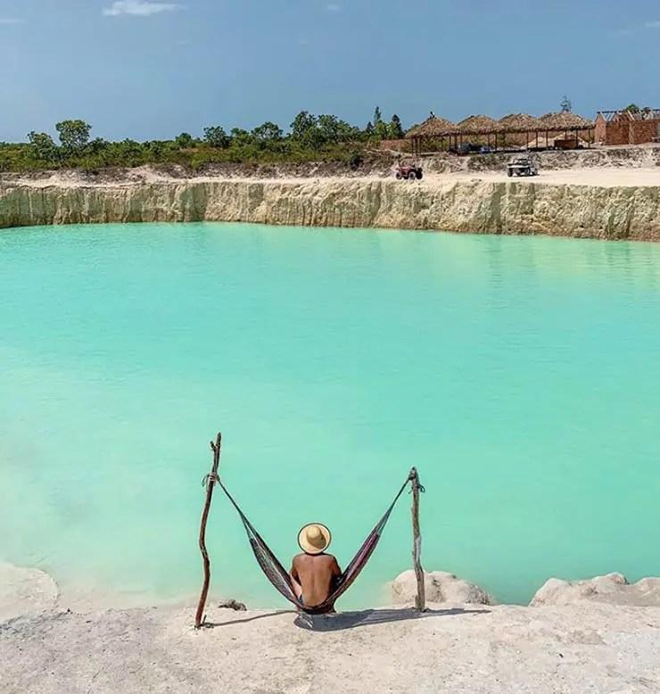 Buraco Azul de Caiçara, perto de Jericoacoara (Foto: Kevenin Alisson)