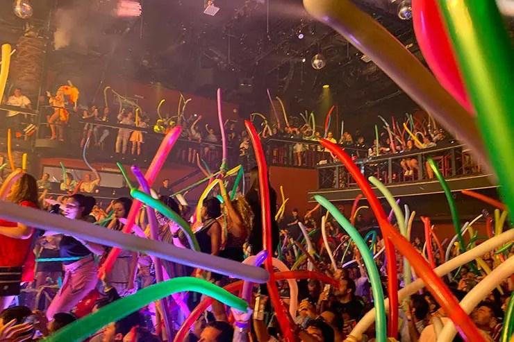 Animação e festa na balada em Cancún (Foto: Esse Mundo é Nosso)