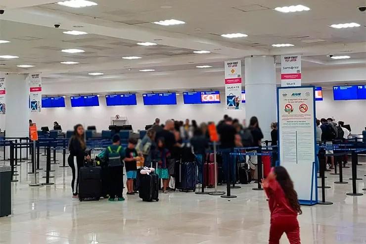 Imigração no México: Aeroporto de Cancún (Foto: Esse Mundo é Nosso)