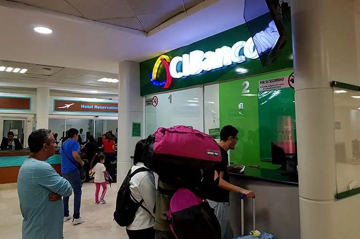 Câmbio no aeroporto de Cancún (Foto: Esse Mundo É Nosso)