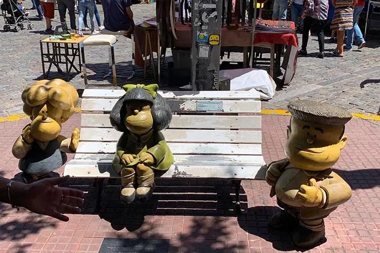 Estátua da Mafalda (Foto: Esse Mundo é Nosso)