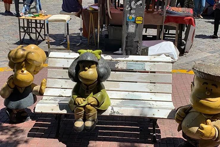 O que fazer em Buenos AIres: Estátua da Mafalda (Foto: Esse Mundo é Nosso)