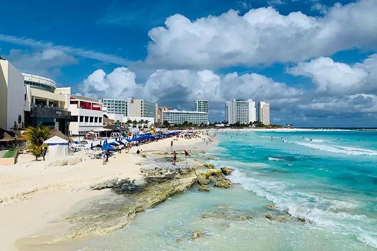Praia de Cancún (Foto: Esse Mundo É Nosso)
