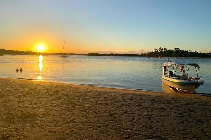 Pôr do sol na Boca da Barra, em Boipeha (Foto: Esse Mundo é Nosso)