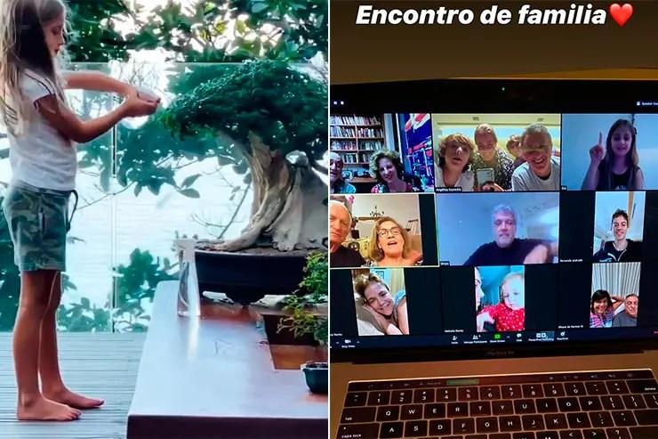 Eva e encontro de família (Fotos: Reprodução/Instagram da Angélica)
