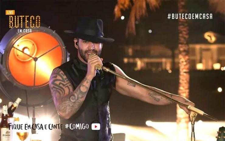 Live do Gusttavo Lima Buteco em Casa (Reprodução/YouTube)